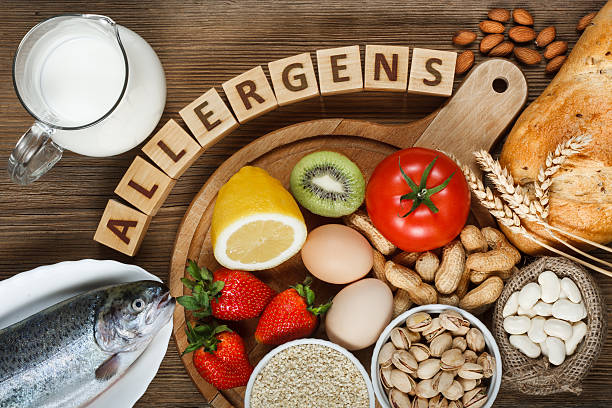 allergy food - pinda voedsel stockfoto's en -beelden