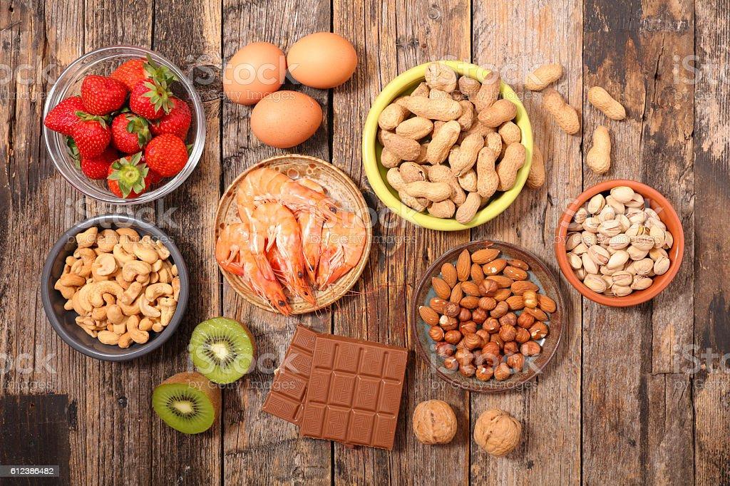 allergy food - foto de stock