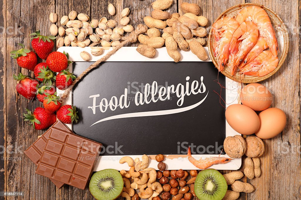 allergy food stock photo