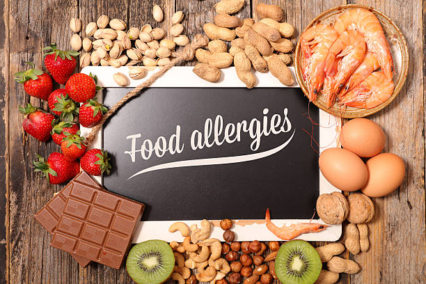 allergy food - food allergies stock photos and pictures