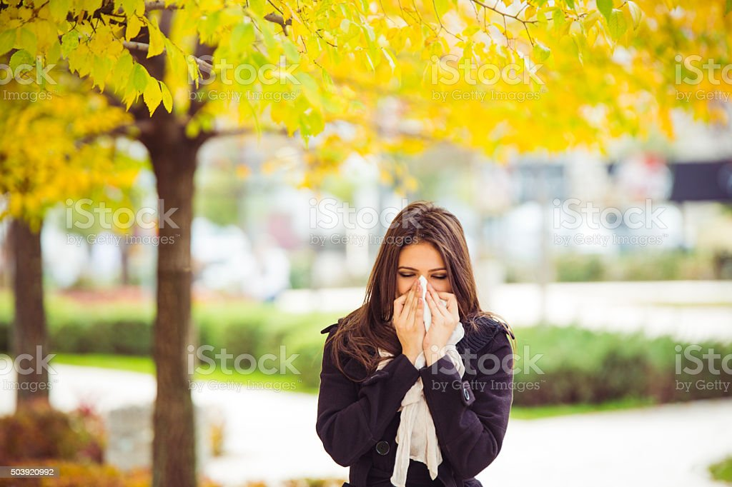 Allergy season stock photo