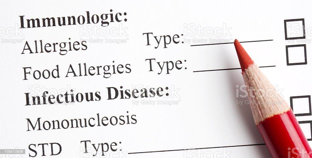 Allergy test royalty-free stock photo