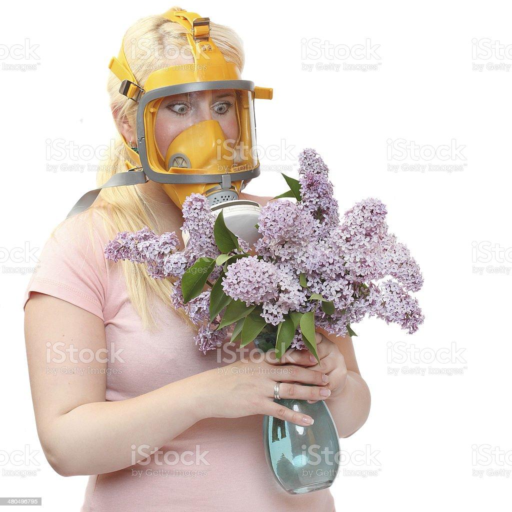Allergy to pollen. stock photo