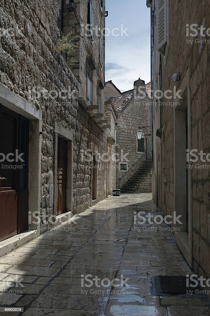 Alley After the Rain royalty-free stock photo
