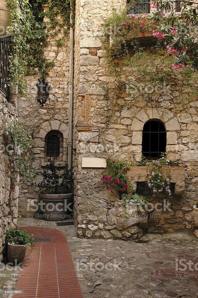 alley in an old village royalty-free stock photo
