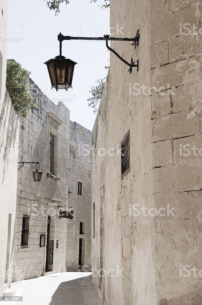 alley in ancient mdina malta royalty-free stock photo