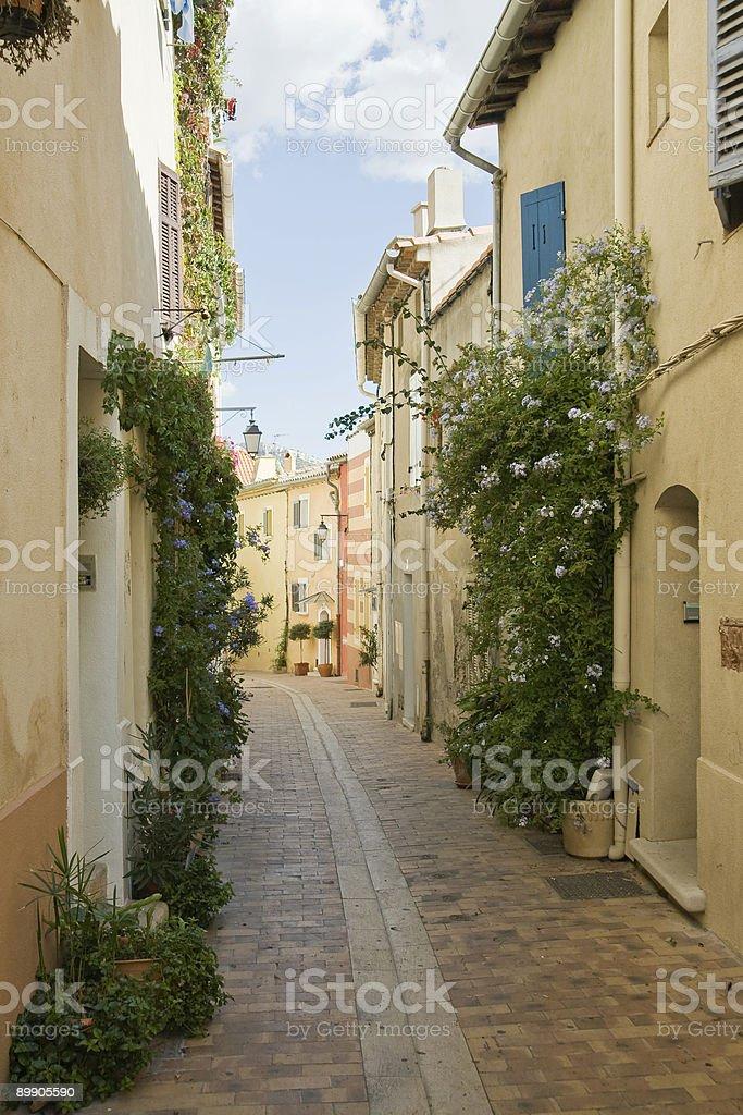 Gasse in der französischen Stadt Lizenzfreies stock-foto