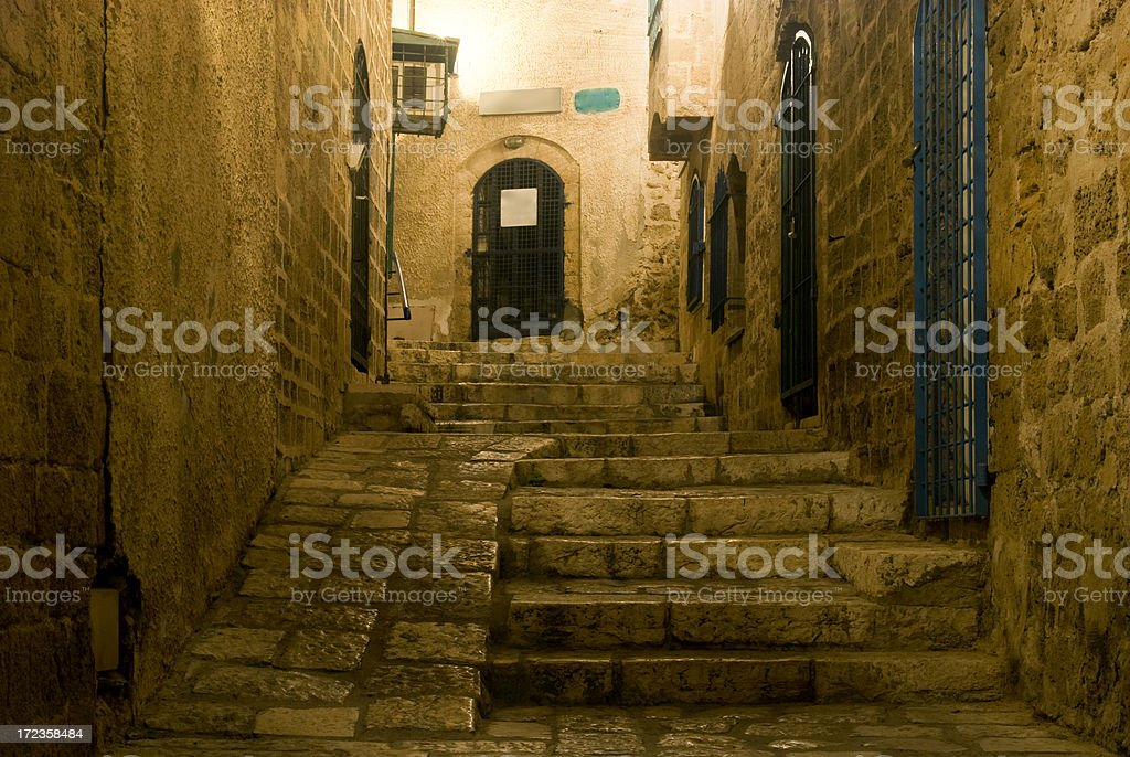 Alley in jaffa royalty-free stock photo