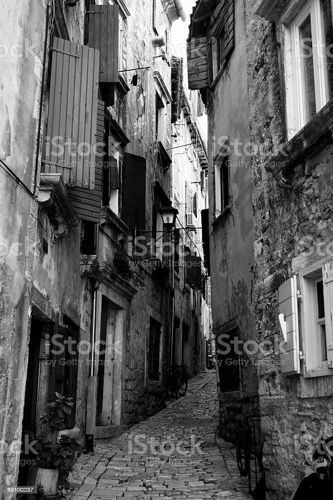 Alley in Novigrad royalty-free stock photo