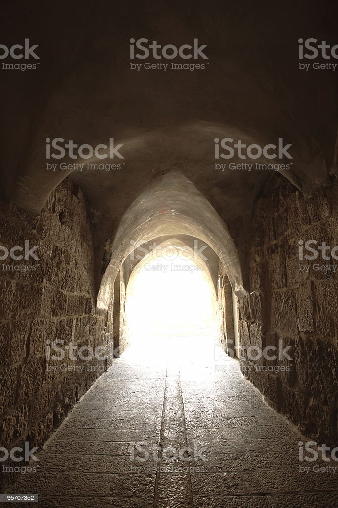 Alley in Old Jerusalem royalty-free stock photo