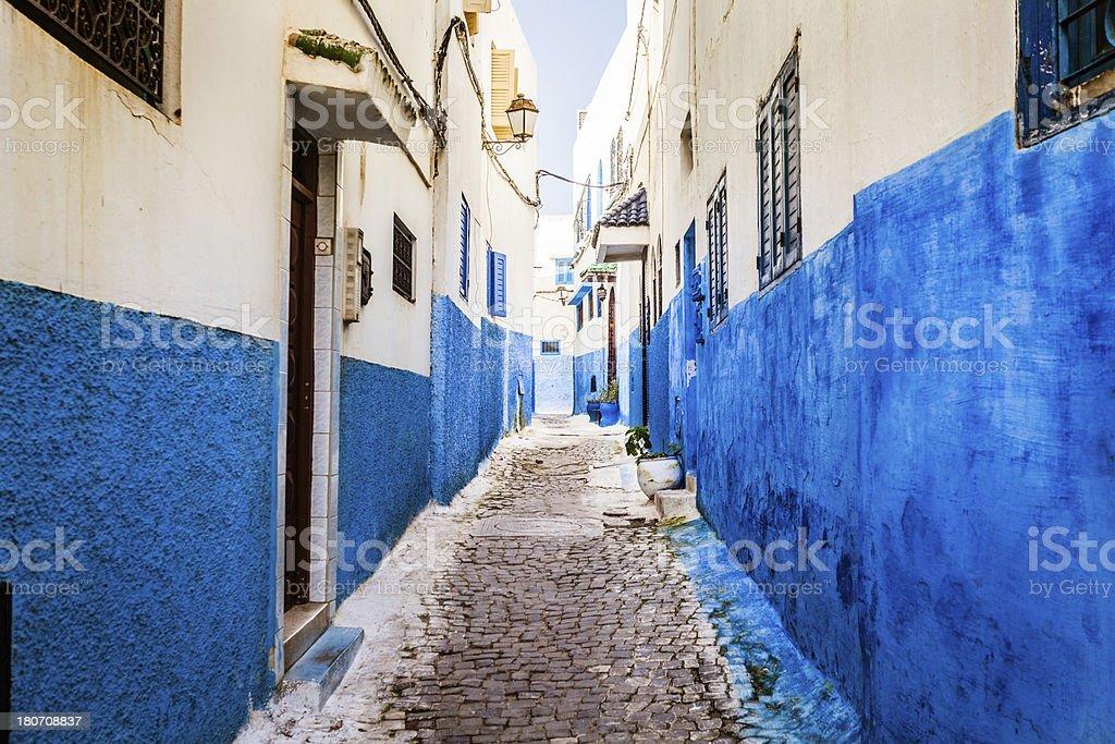 Alley in Rabat Old Medina, Morocco stock photo
