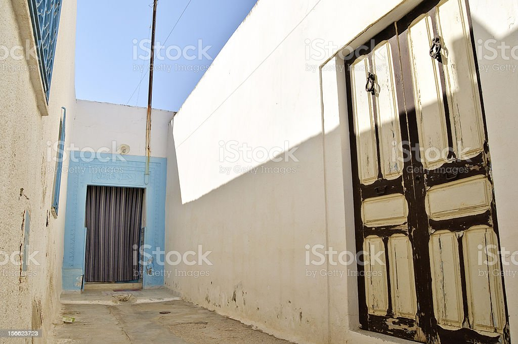 Alley in Tunisia royalty-free stock photo