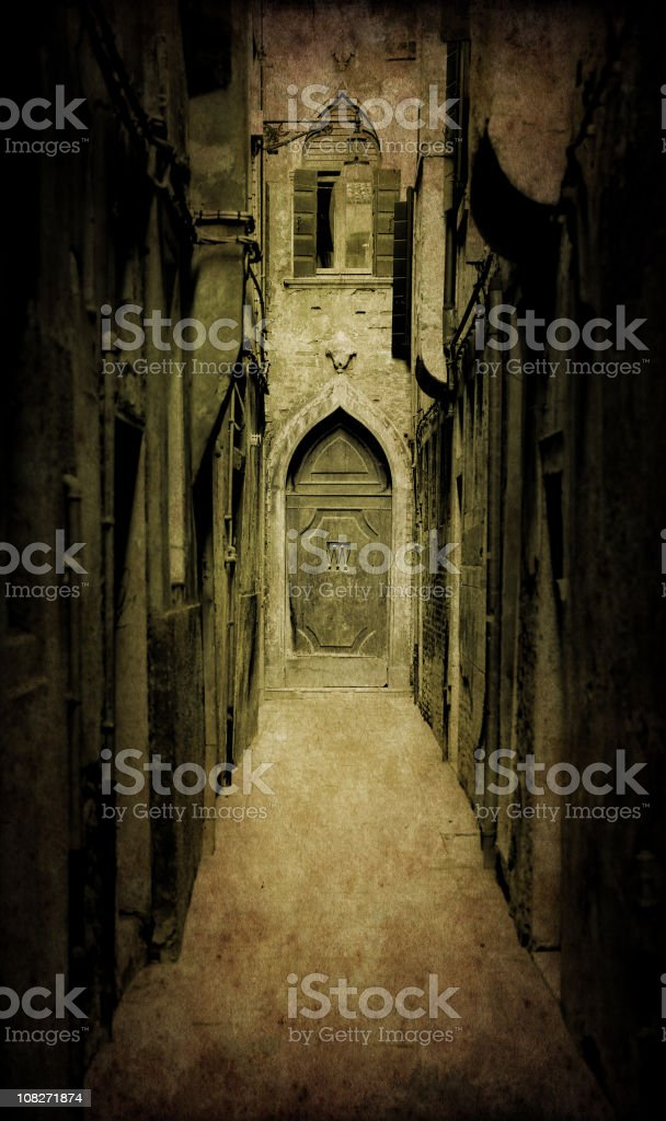 Alley in Venice, Toned royalty-free stock photo