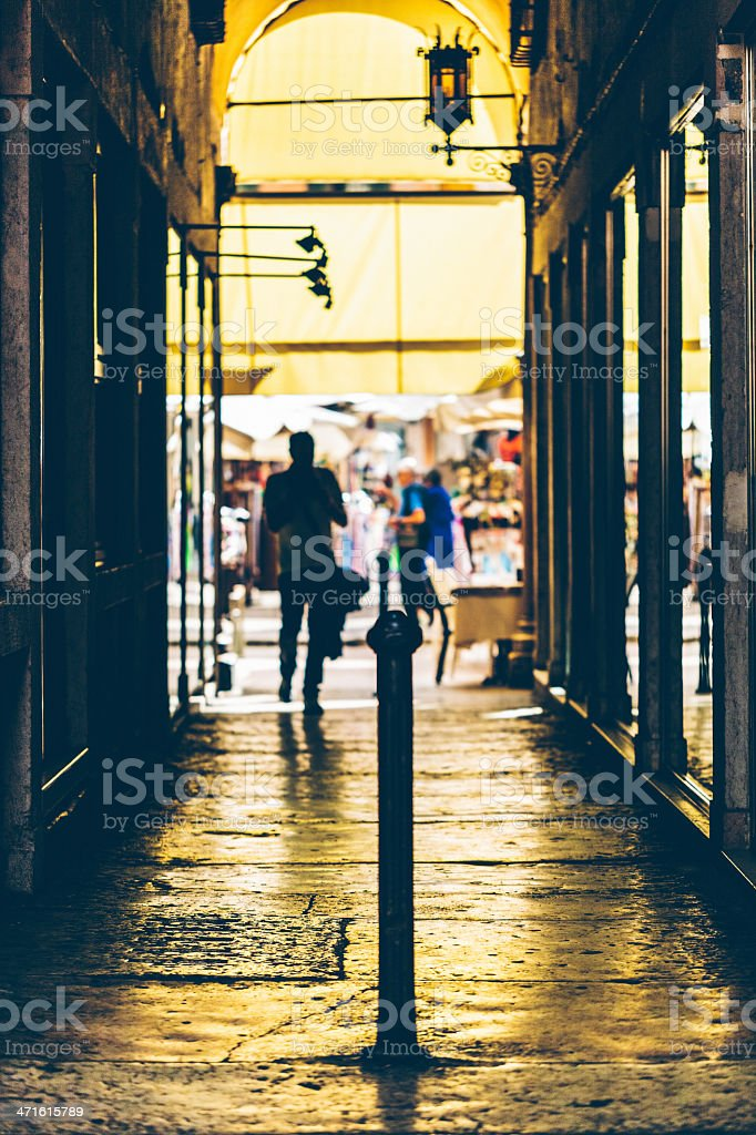 Alley in Verona royalty-free stock photo