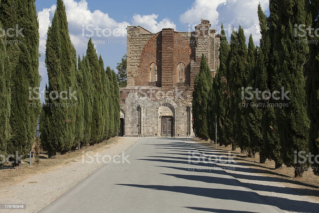Alley near the Abbey of San Galgano royalty-free stock photo