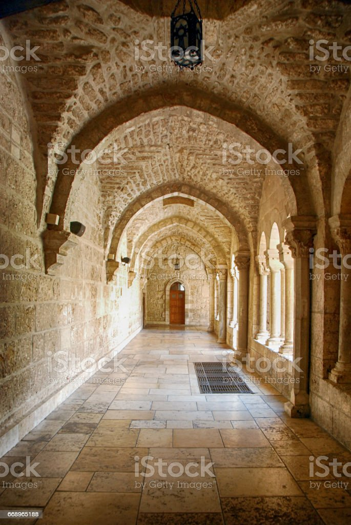 Alley of a Church foto stock royalty-free