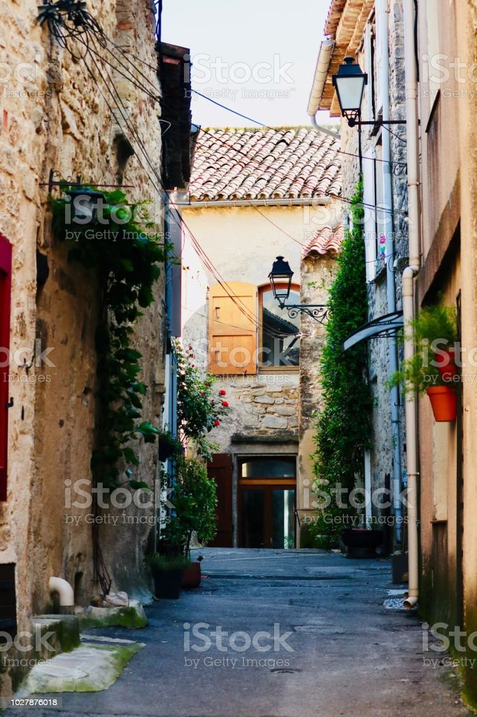 Alley of provence stock photo