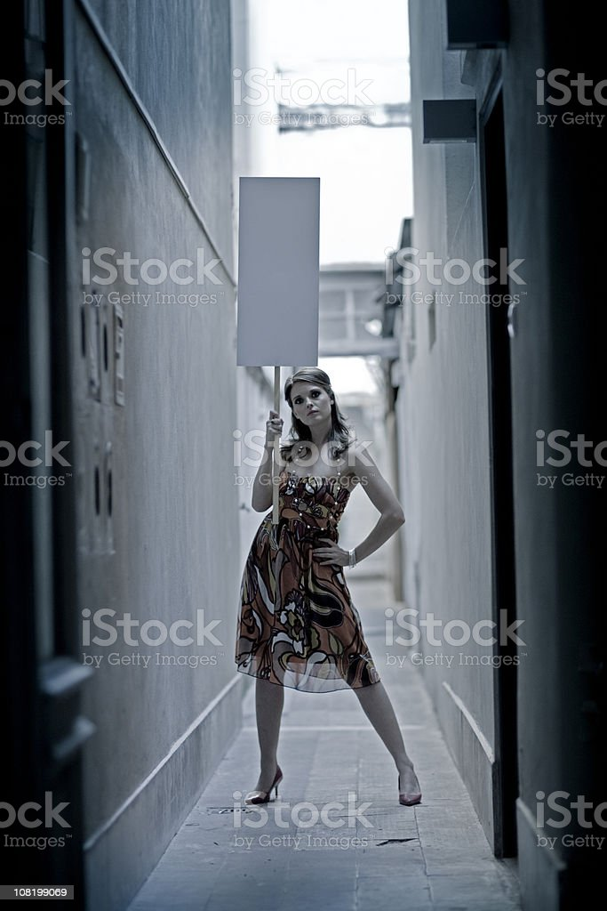Alley Protest Blank Banner royalty-free stock photo