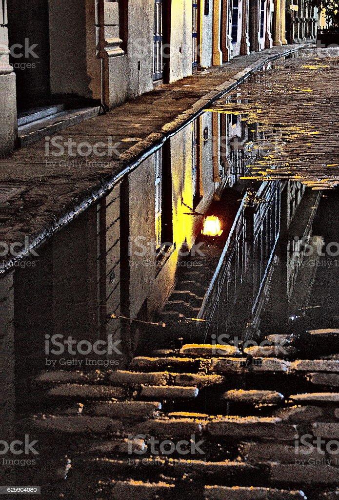 Alley reflections, Habana Cuba stock photo