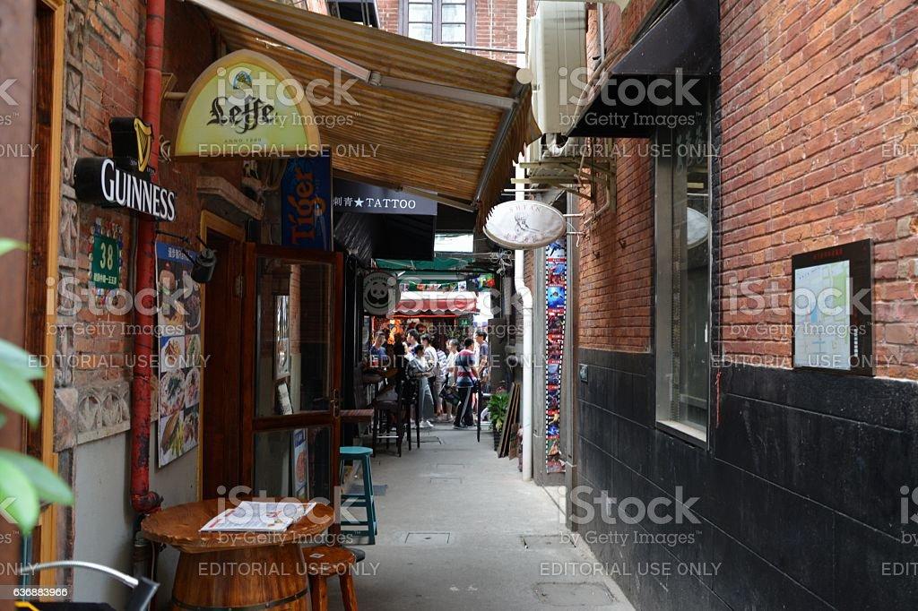 Alleys in Tianzifang, Shanghai stock photo