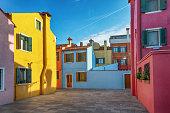 Burano is an island in the Venetian Lagoon, northern Italy.