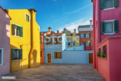 Burano is an island in the Venetian Lagoon, northern Italy.