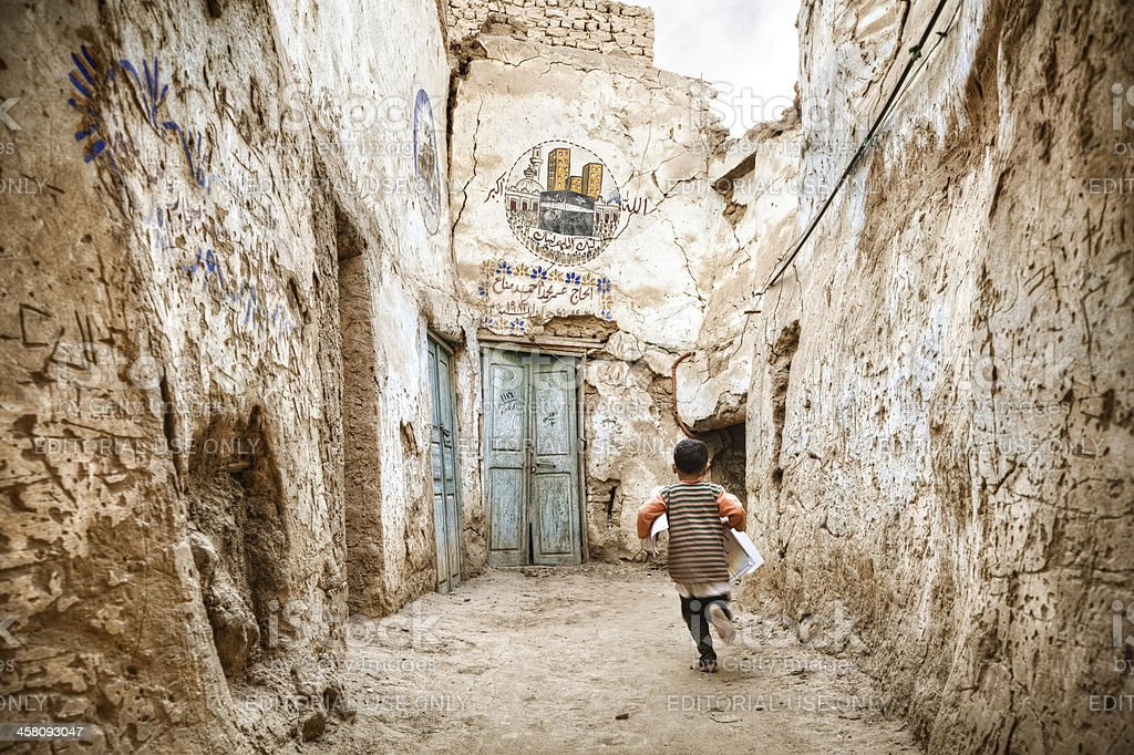 Alleys of the Kharga Oasis royalty-free stock photo