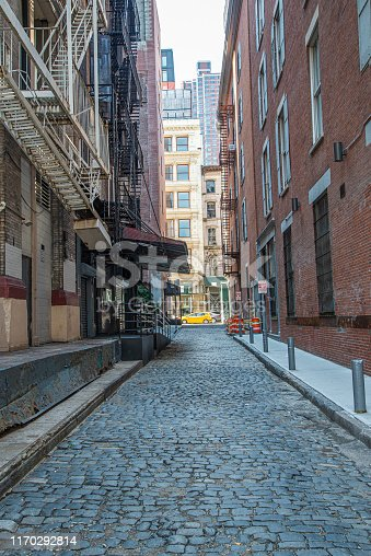The alleyways in New York