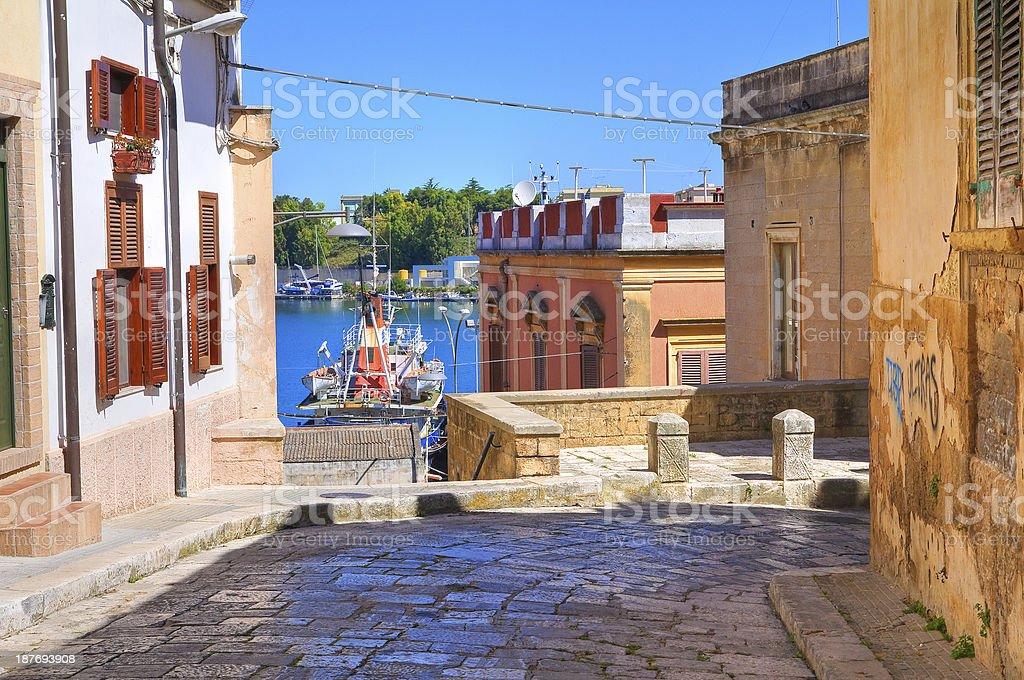 Alleyway. Brindisi. Puglia. Italy. royalty-free stock photo