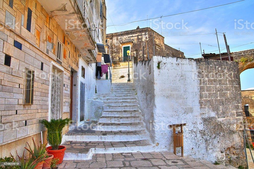 Alleyway. Ginosa. Puglia. Italy. stock photo
