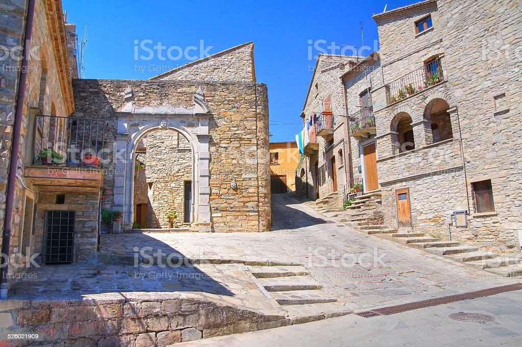 Alleyway. Guardia Perticara. Basilicata. Italy. stock photo