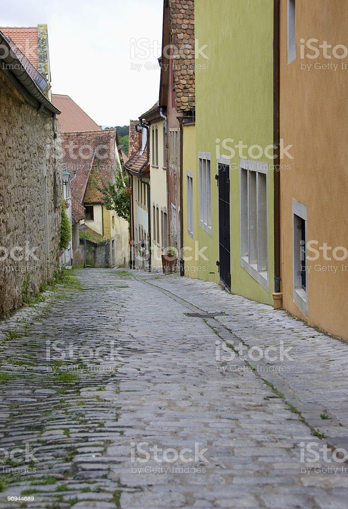 alleyway in Germany royalty-free stock photo