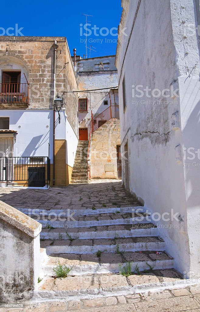 Alleyway. Laterza. Puglia. Italy. stock photo