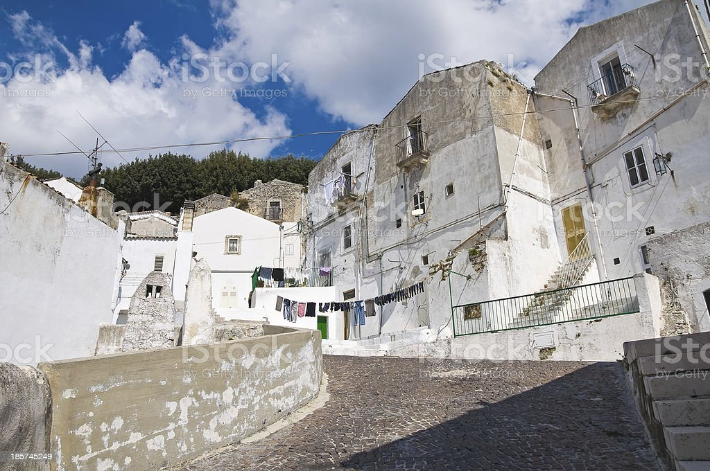 Alleyway. Monte Sant'Angelo. Puglia. Italy. royalty-free stock photo