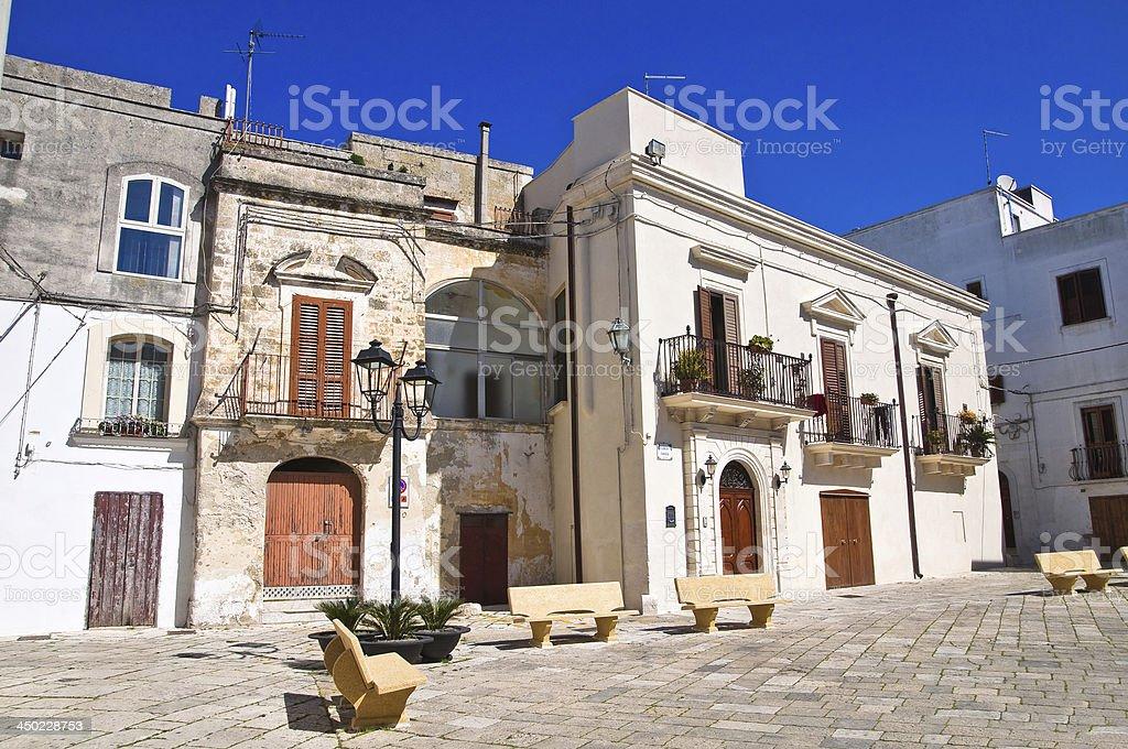 Alleyway. Mottola. Puglia. Italy. stock photo