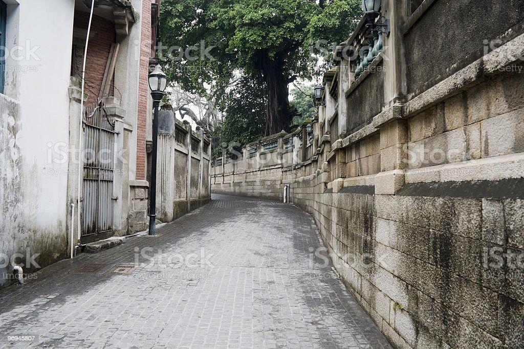 alleyway of gulangyu at xiamen royalty-free stock photo