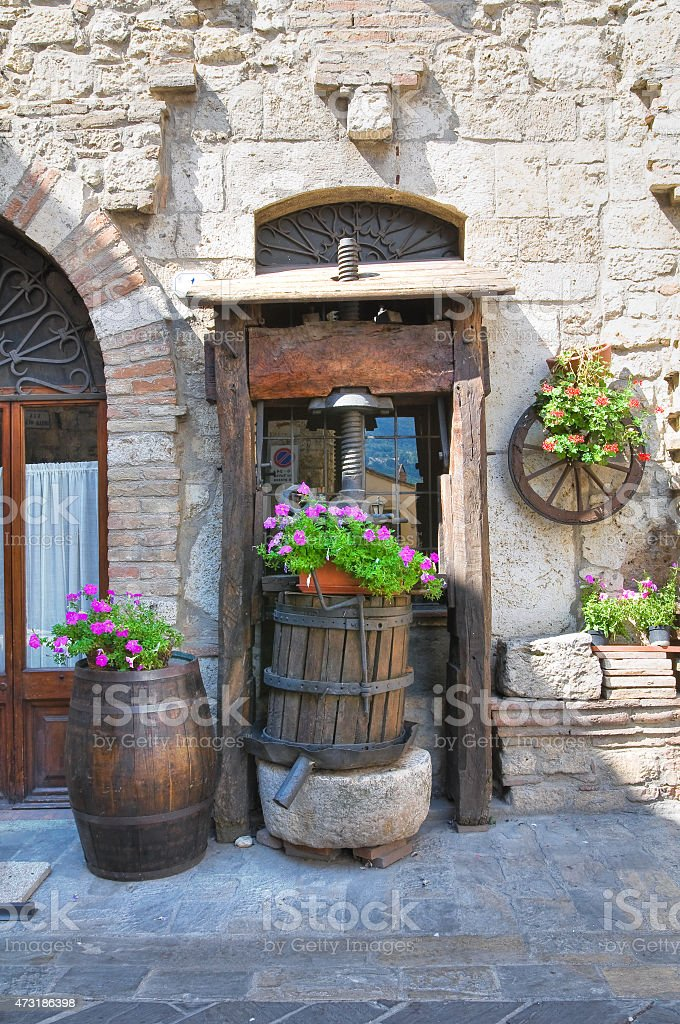 Alleyway. San Gemini. Umbria. Italy. stock photo