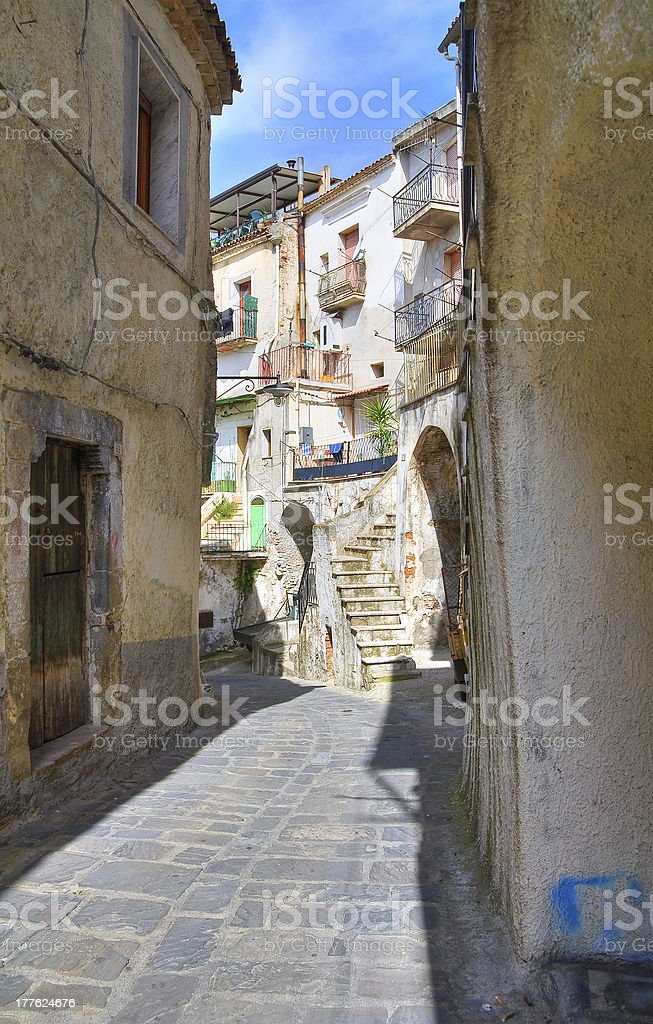 Alleyway. Tursi. Basilicata. Italy. royalty-free stock photo