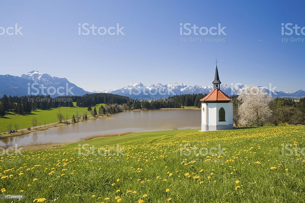 allgaeu chapel royalty-free stock photo