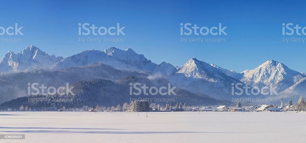 Allgaeu in Winter stock photo
