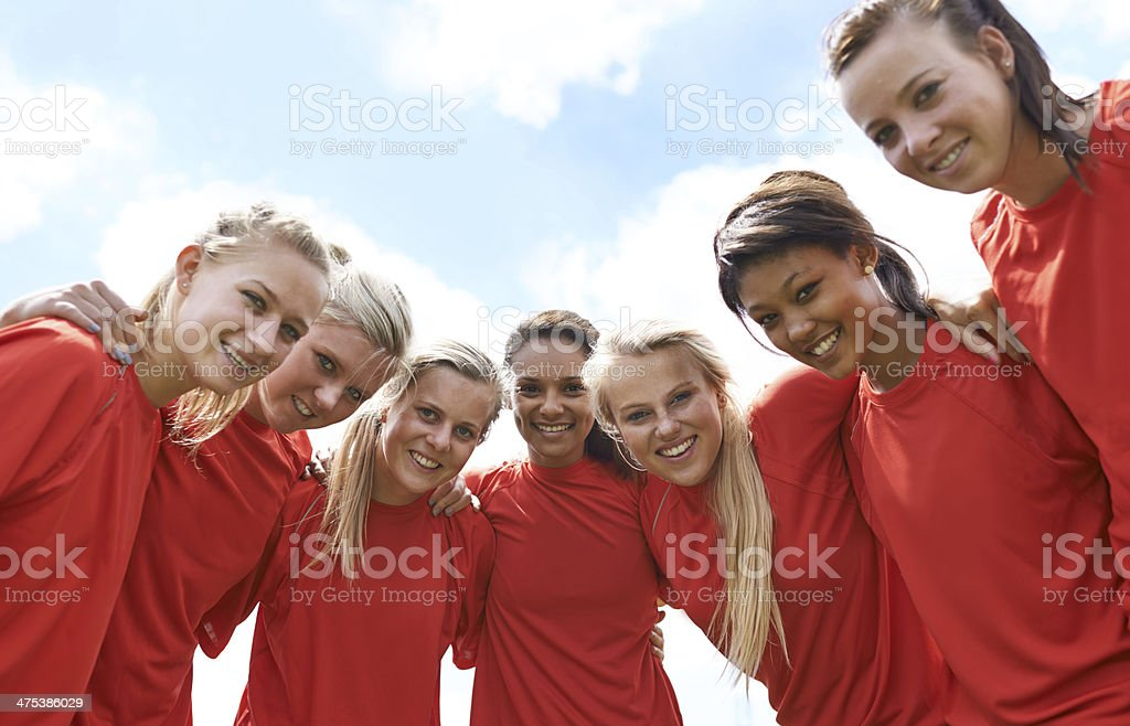 All-girl champs! stock photo