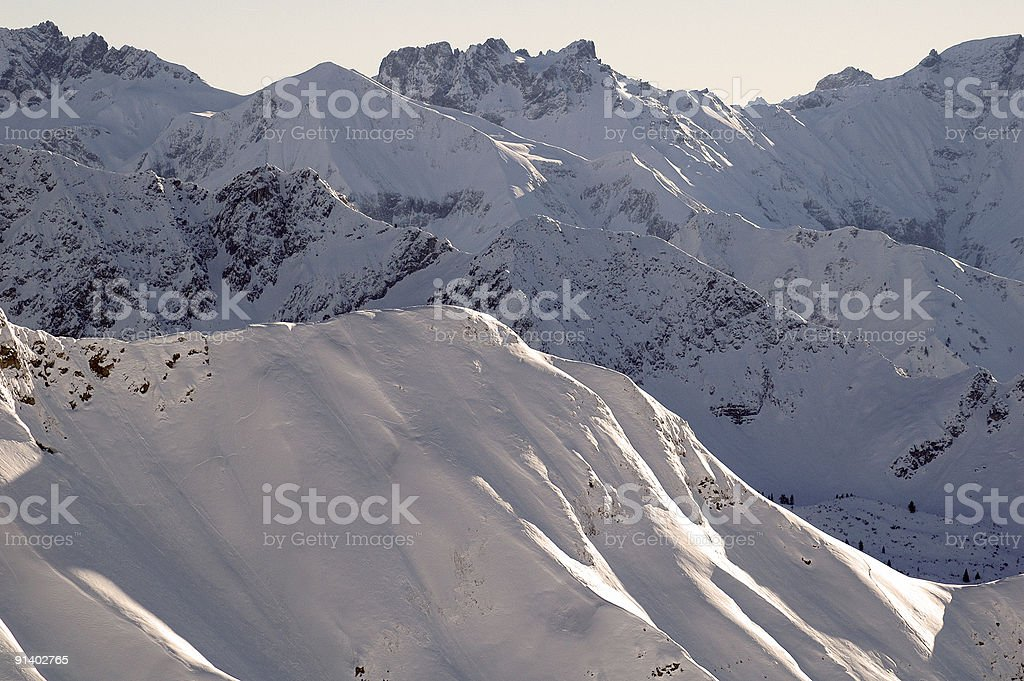 Allgäu Alps, Southern Germany from Nebelhorn stock photo