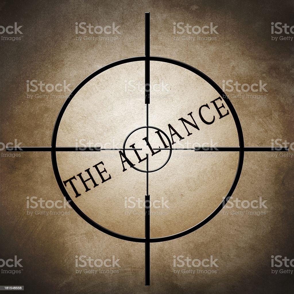 Alliance target royalty-free stock photo