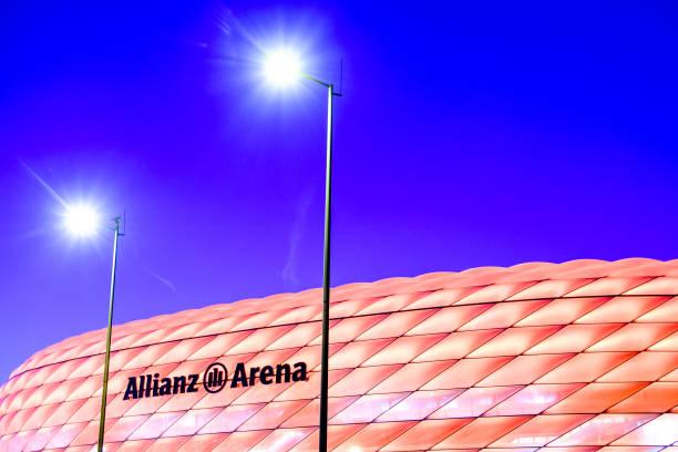 allianz-arena in münchen (deutschland - bayern fußball heute stock-fotos und bilder