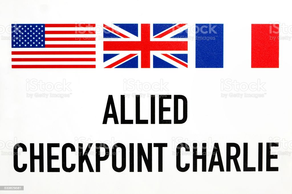 Allied Checkpoint Charlie stock photo