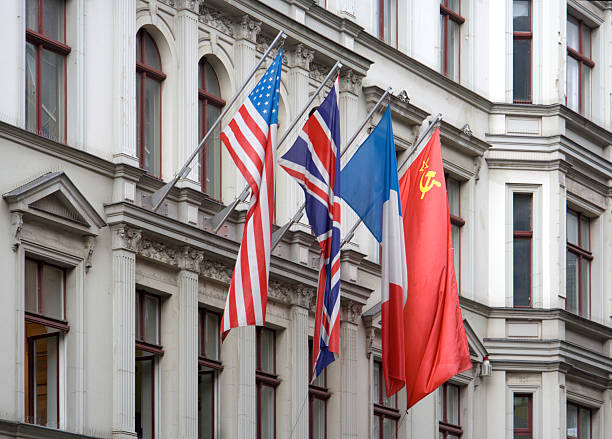 Allied Flags des Checkpoint Charlie – Foto