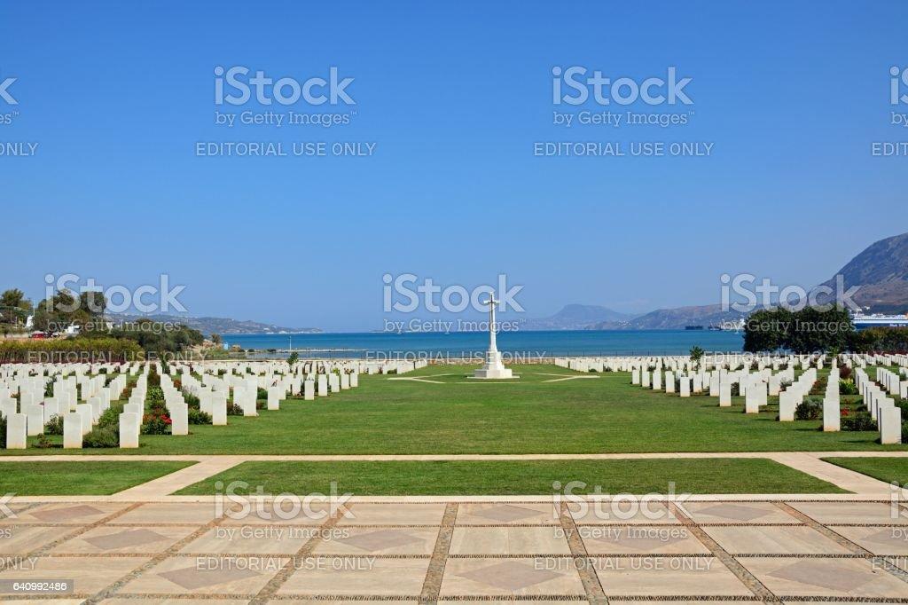 Allied War Cemetery, Souda Bay, Crete. stock photo