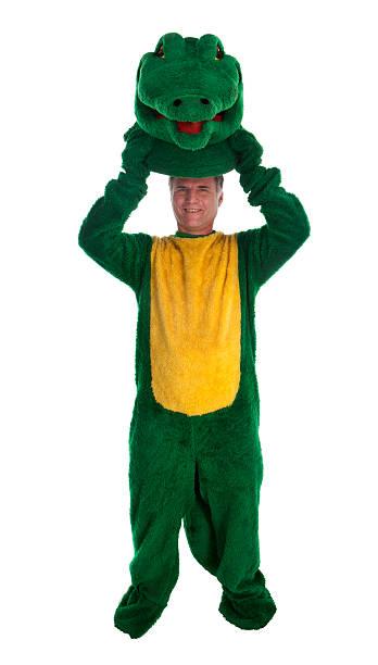 alligator mascott revealed - mascotte photos et images de collection
