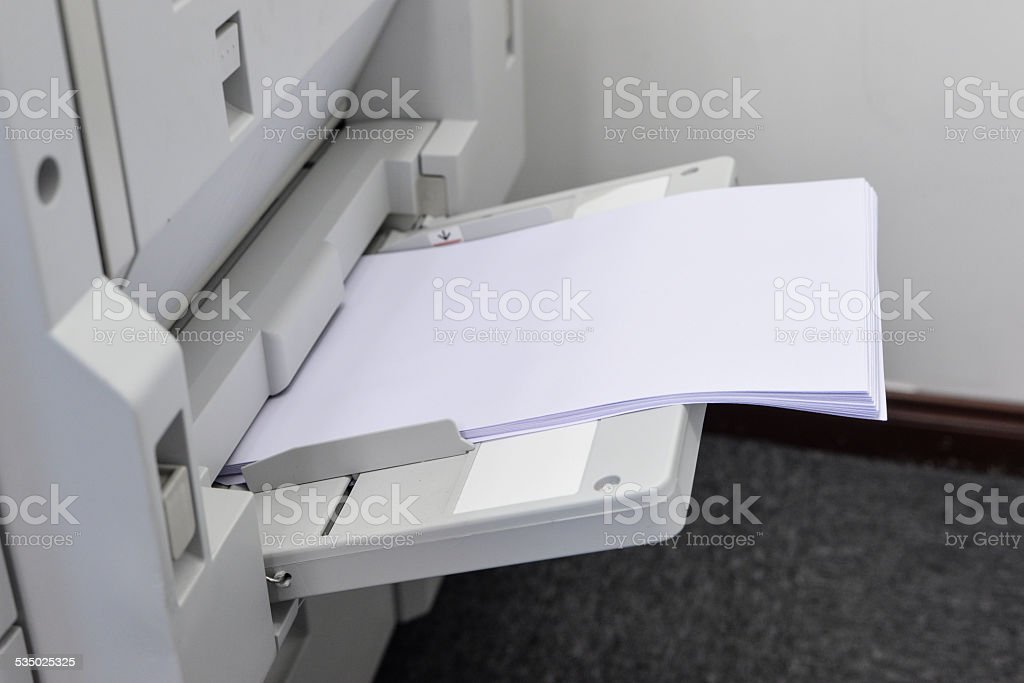 all-in-one copier and printer stock photo