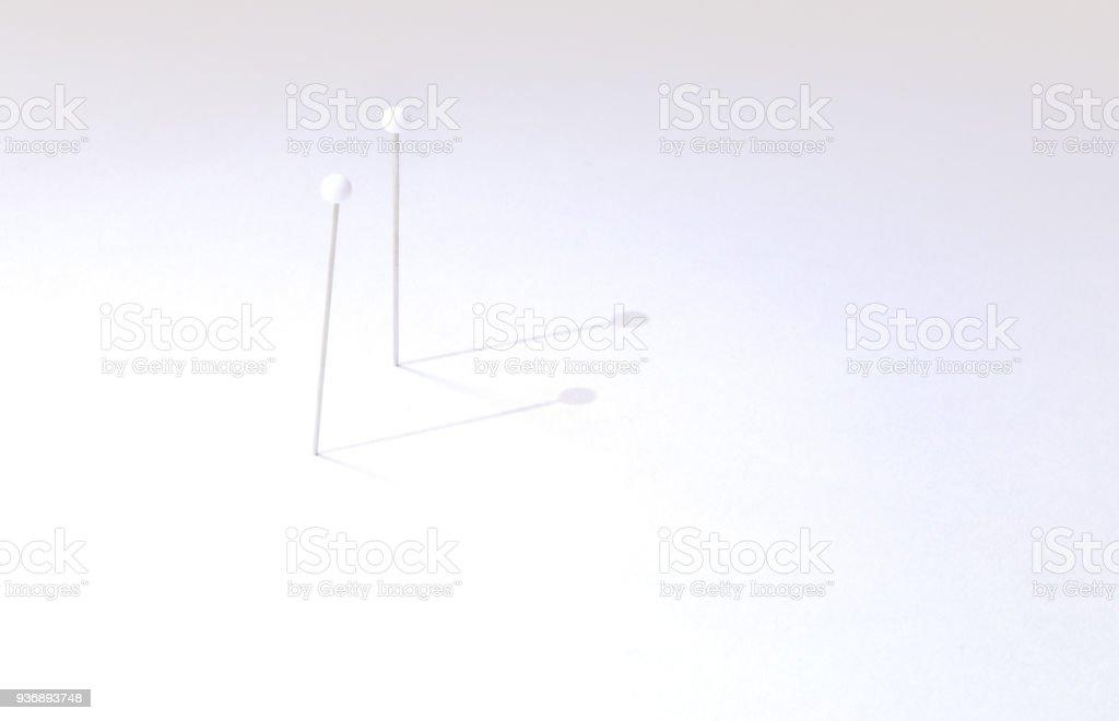 All'ombra di uno spillo stock photo